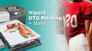 Combining Vinyl and Direct to Garment Printing Viper2 DTG and CutnPress Live