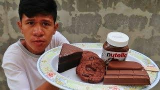 อดข้าว24ชั่วโมงกิน ไอติมช็อกโกแลต vs เค้กช็อกโกแลต vs Nutella  vs ช็อกโกแลตแท่ง vs คุกกี้ช็อกโกแลต