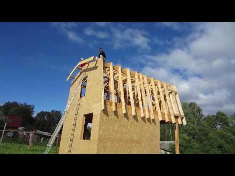 Каркасный дом размером 6х6 №1. Ломаная крыша. VL House.