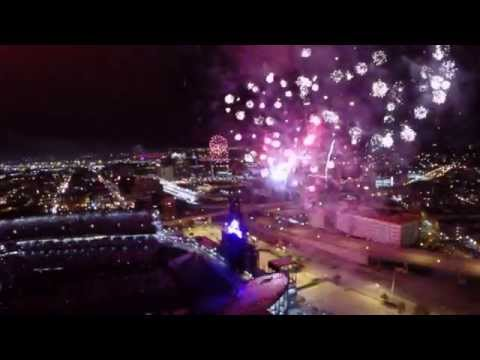 Rockies at Coors Field has Fireworks filmed by drone.