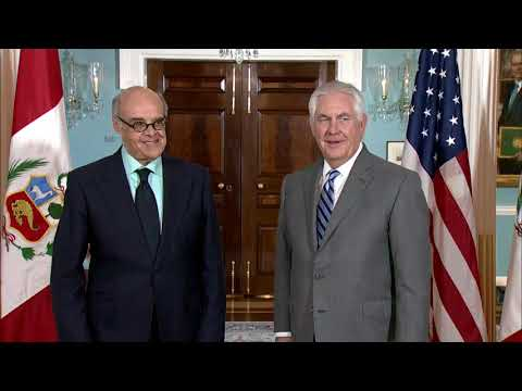 Secretary Tillerson meets with Peruvian Foreign Minister Mendoza