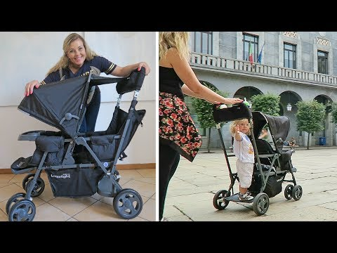 Joovy Caboose Ultralight   UNBOX, DEMO & REVIEW   Stand-on Stroller