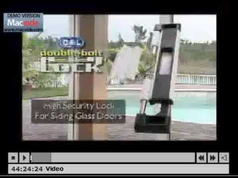 Child Proof Sliding Glass Door Lock Cal Double Bolt Lock Youtube