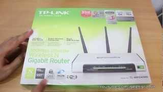 TP-Link N300 WiFi Gigabit router TL-WR1043ND unboxing
