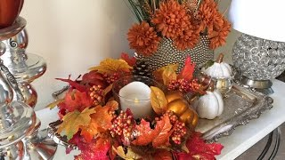 Dollar Tree Traditional Fall Floral Centerpiece