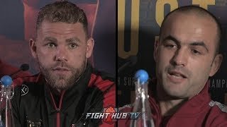 THE FULL BILLY JOE SAUNDERS VS SHEFAT ISUFI FINAL PRESS CONFERENCE & FACE OFF VIDEO