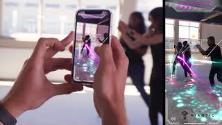 Codename Neon (Niantic) - Real-Time Mobile AR Multiplayer Laser Tag Demo