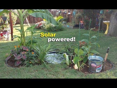 Pumping water! Solar powered garden pond #2 bilge pump wired up
