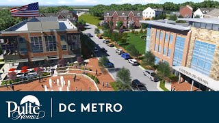 New Townhomes in Clarksburg, Maryland - Clarksburg Town Center by Pulte Homes