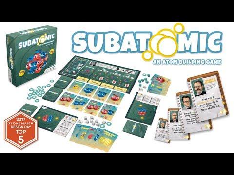 Subatomic: An Atom Building Board Game By Genius Games