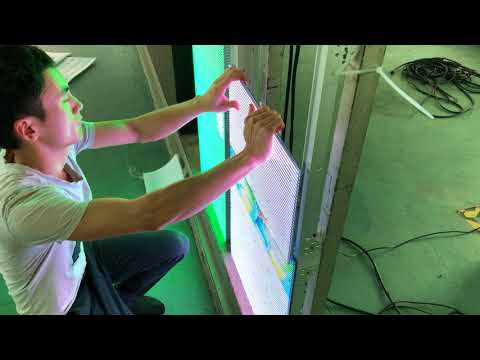 How To do Front Service of Outdoor & Indoor Transperant LED Curtain Display Screen