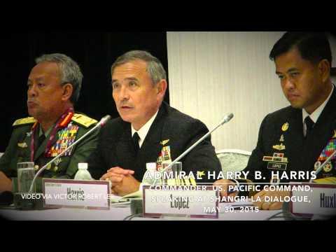 Admiral Harry B. Harris Speaking at Shangri-La Dialogue, Singapore, May 30, 2015
