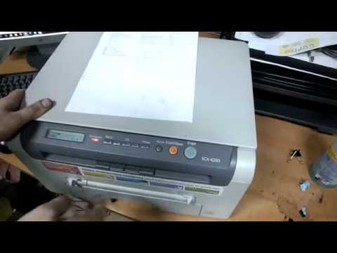 SAMSUNG 4200 бледно печатает.Заправка,чистка.