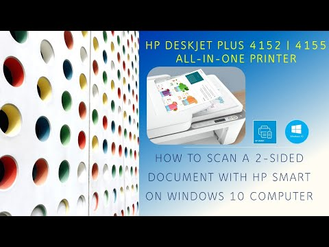 HP DeskJet Plus 4140 |4152 |4155 |4158 : Scan a 2 sided document using HP Smart on Win 10 computer