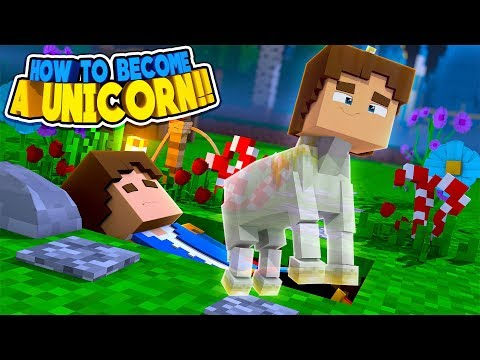 Minecraft HOW TO BECOME A UNICORN IN RAINBOW LAND || Little Donny Roleplay