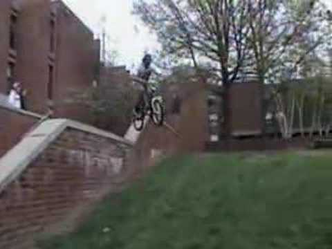 John Brooks rides his bike