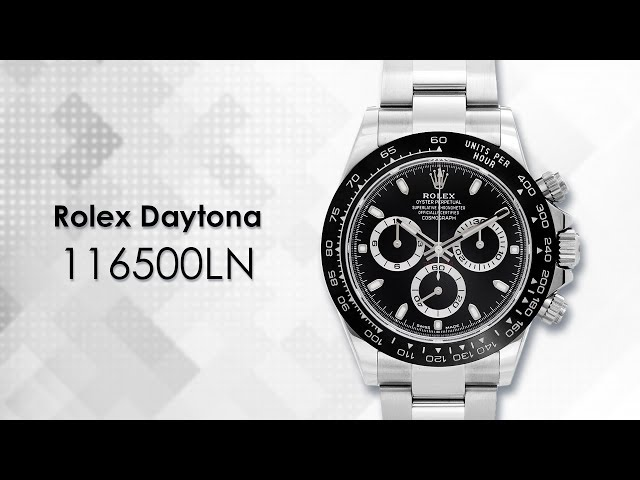 Rolex Daytona Cosmograph 116500LN Stainless Steel & Black Dial Watch