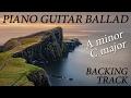 Instrumental Piano Guitar Ballad Backing Track A minor C major