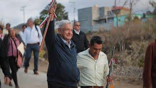 Inauguración del camino rural San Andrés Nuxiño, desde Oaxaca