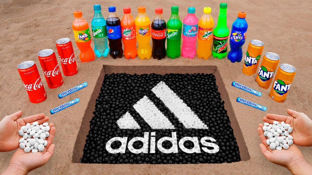 Download Adidas Logo in the Hole with Orbeez, Coca Cola, Mentos & Popular Sodas