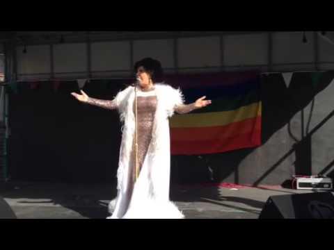 Paula Randell as Dame Shirley Bassey 'I am what I am' @ Barnsley Pride 2014