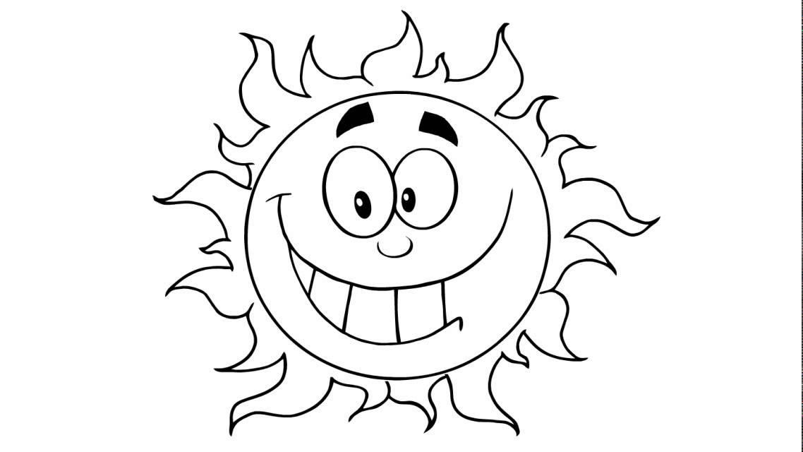 comment dessiner   un soleil heureux