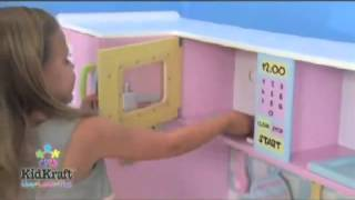 Girls Childrens Large Play Kitchen Wooden Toy Kitchen Video Great Fun For Kids