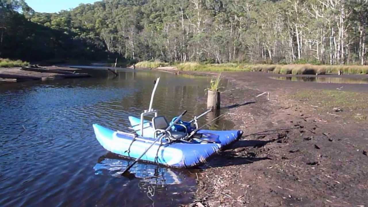 Fishing on the edwards river nsw on my inflatable pontoon for Inflatable fishing pontoon