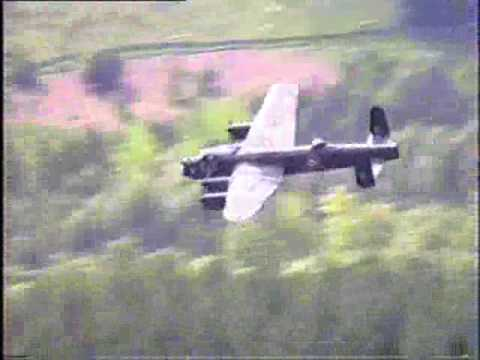 Lancaster & Mosquito at Dambusters 50th Anniversary Derwent Valley May 1993