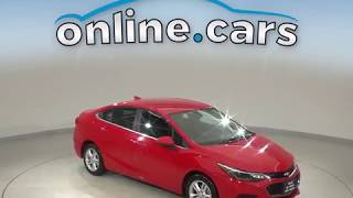 A10624TR Used 2017 Chevrolet Cruze LT FWD 4D Sedan Red Test Drive, Review, For Sale