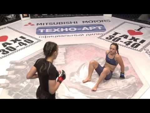 Awesome MMA Fight Girls Ljudmila Pilipchak Ukraine   Alena Rassohina Ukraine