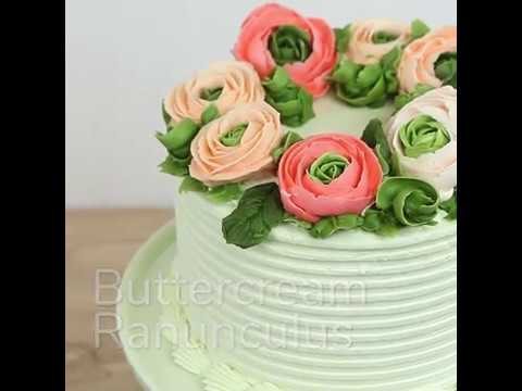 How to Make Buttercream Ranunculus - Fast & Easy Decorating with Global Sugar Art
