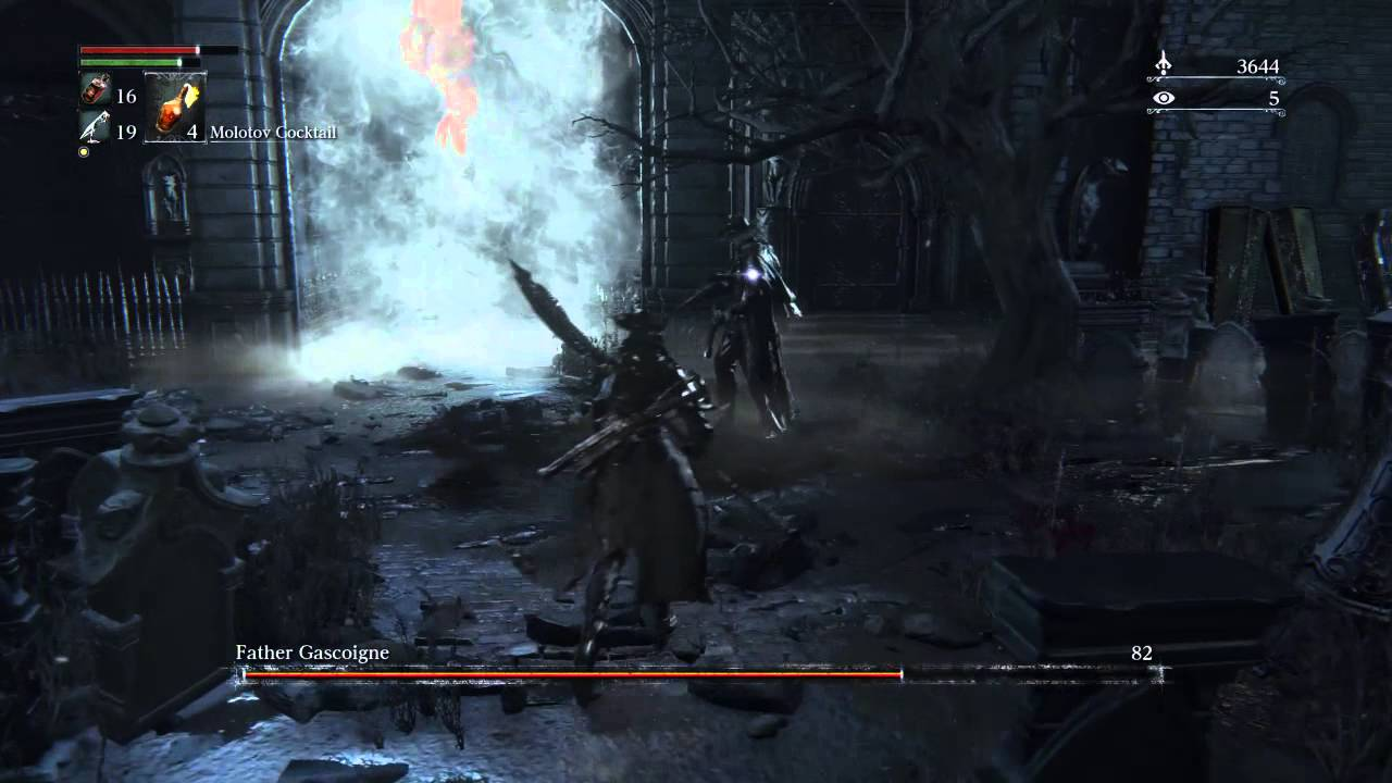 Bloodborne: Father Gascoigne boss fight. (Forgot to use the music ...