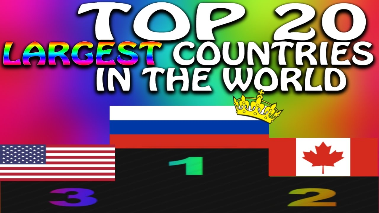 Top Largest Countries In The Worldby Area YouTube - Largest countries in the world