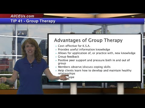TIP41  Group Therapy for Counseling Training and CEUs for LP