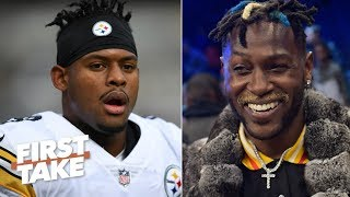 Antonio Brown calling out JuJu Smith-Schuster was 'cruel,' uncalled for - Stephen A. | First Take