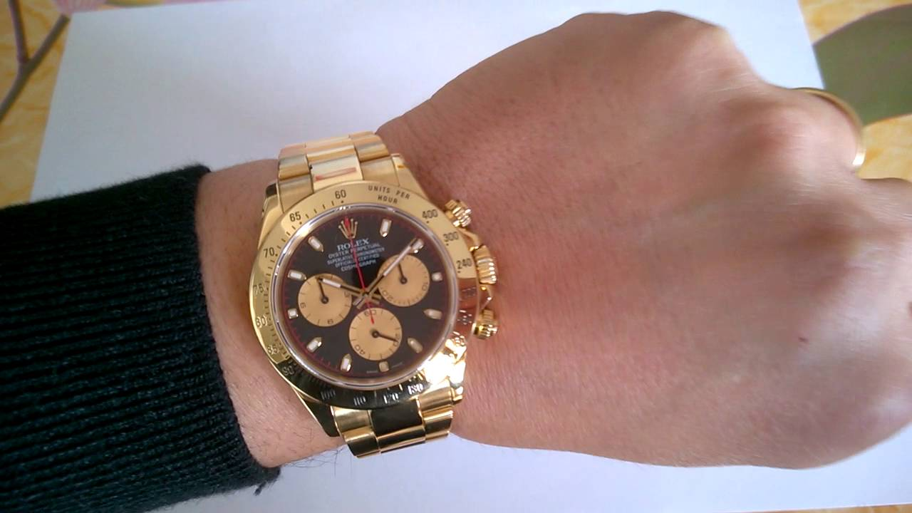 Rolex Daytona Paul Newman 116528 on wrist..