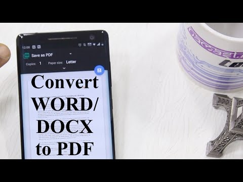 How To Convert Word (.DOCX) Files To PDF In Android [Hindi]