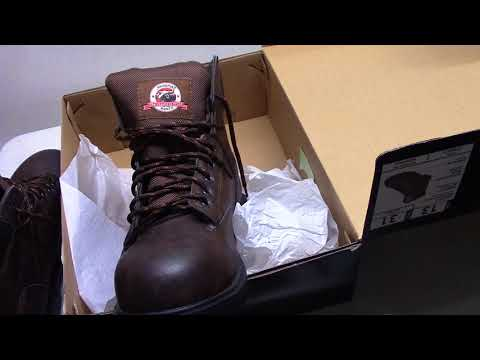 3c8a92a2a69 Brahma Steel Toe Work Shoes from Walmart for $23.00 Open Box - YouTube