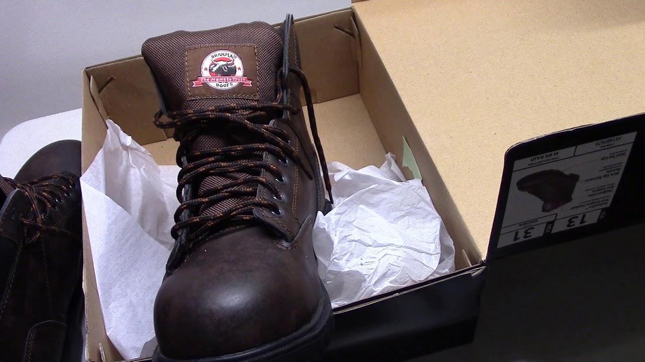 a07073aaef4 Brahma Steel Toe Work Shoes from Walmart for $23.00 Open Box
