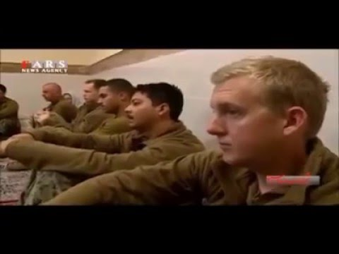 The moment when US marines were seized by Iran's elite Islamic Revolution Guard Corps.