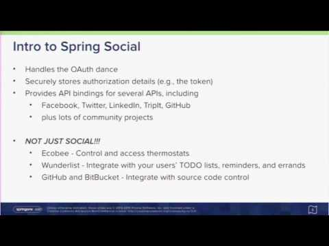A Spring Developer's Guide to Social Integration