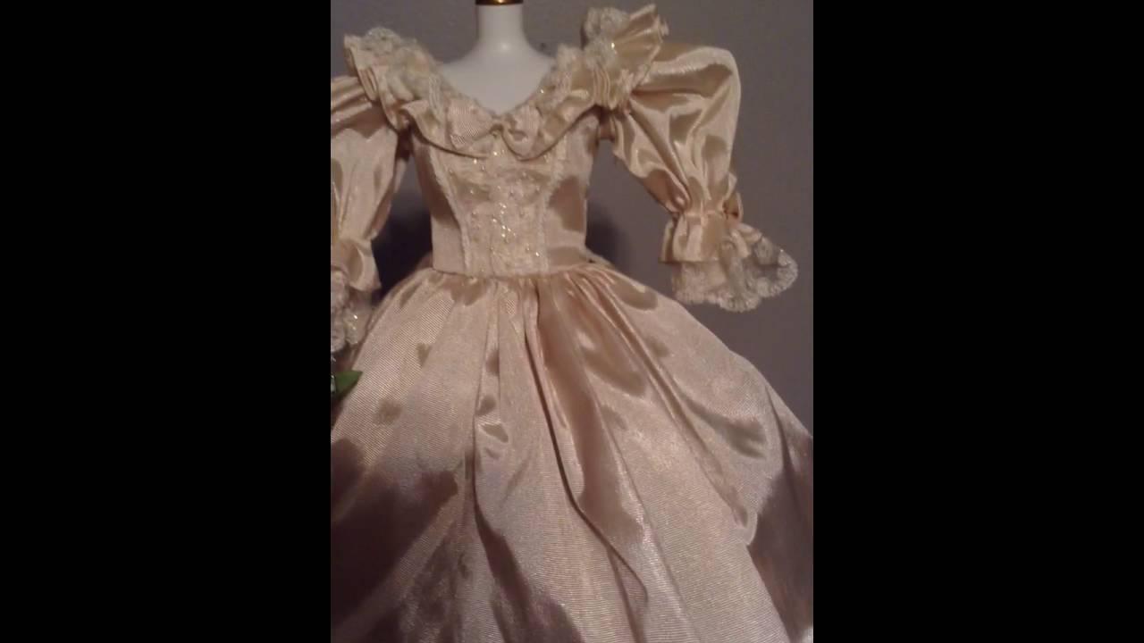 Franklin mint Princess Diana wedding dress review - YouTube