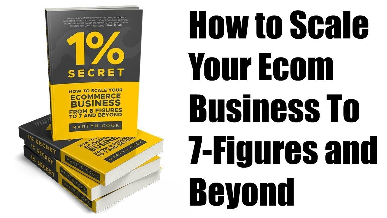 1% Secret Book by Martyn Cook Review - How to Scale Your Ecom Business To 7 Figures and Beyond | JVZoo WSO Launch Review
