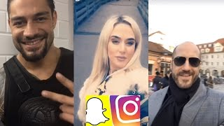WWE Snapchat/IG ft. Roman Reigns, The Rock, Alexa Bliss, Emma n MORE