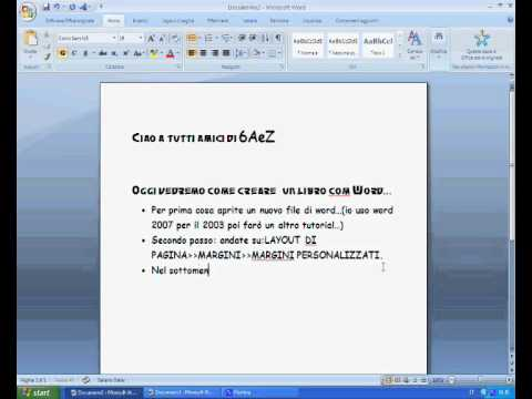 Come Creare Un Libro Con Word Youtube