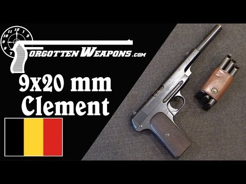 Prototype 9mm Clement Military Pistol