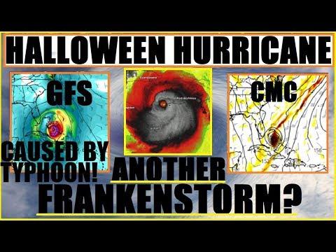 """Halloween HURRICANE? """"FRANKENSTORM 2"""" Caused by Japan TYPHOON?"""