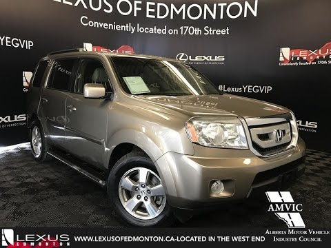 Used Gold 2009 Honda Pilot EX L Walkaround Review Drayton Valley Alberta