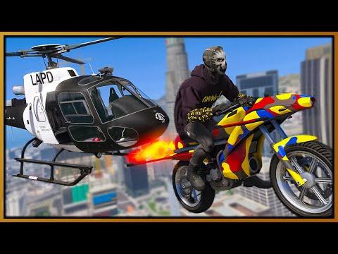 GTA 5 Roleplay - flying jet power bikes trolling cops   RedlineRP